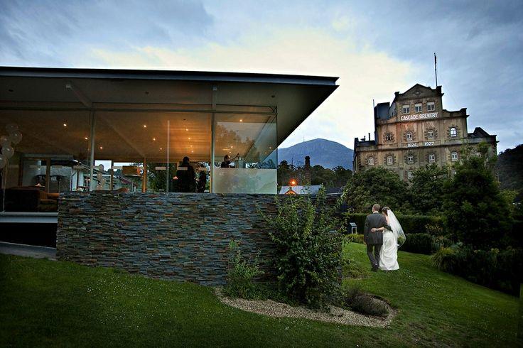 A wedding in the gardens of the Cascade Brewery. #hobart #weddings #tasmania Image Credit: Jon Jarvela