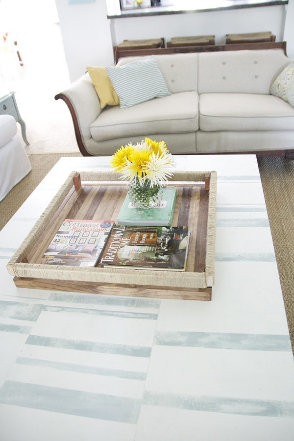 Diy wooden coffee table tray do it yourself pinterest wooden coffee tables trays and Do it yourself coffee table