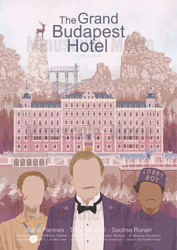 This is a The Grand Budapest Hotel movie inspired print.  A3 size is 29.7x42cm or 11.69x16.53 inches. A3 prints : 250mg matte paper ready to be shipped. Offset printing.  That was a surprise print from our subscription offer ! Have a look : https://www.etsy.com/fr/listing/213819852/abonnement-fan-de-cinema-3-mois?ref=shop_home_feat_4  Wes Anderson fan ? Think about our special Wes Anderson set…