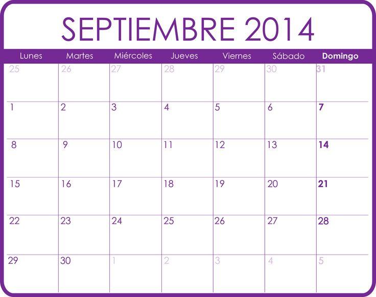calendario de septiembre 2014 | Calendario Septiembre 2014