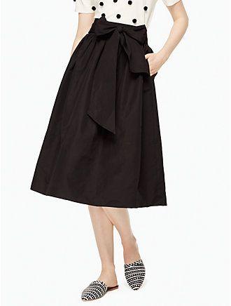 slub cotton midi skirt by kate spade new york