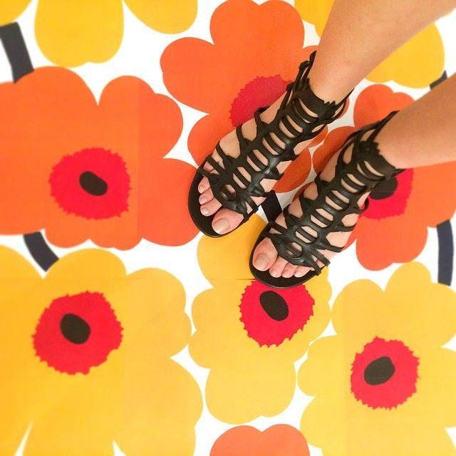 In full bloom. The #PaulAndrew AGIA flat gladiator sandal. Available now at @modaoperandi