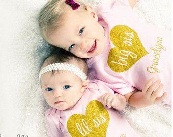 Hermana hermana conjunto hermana hermanita traje camiseta de