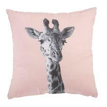 KAAT Amsterdam Giraffe Sierkussen 43 x 43 cm - Zacht Roze