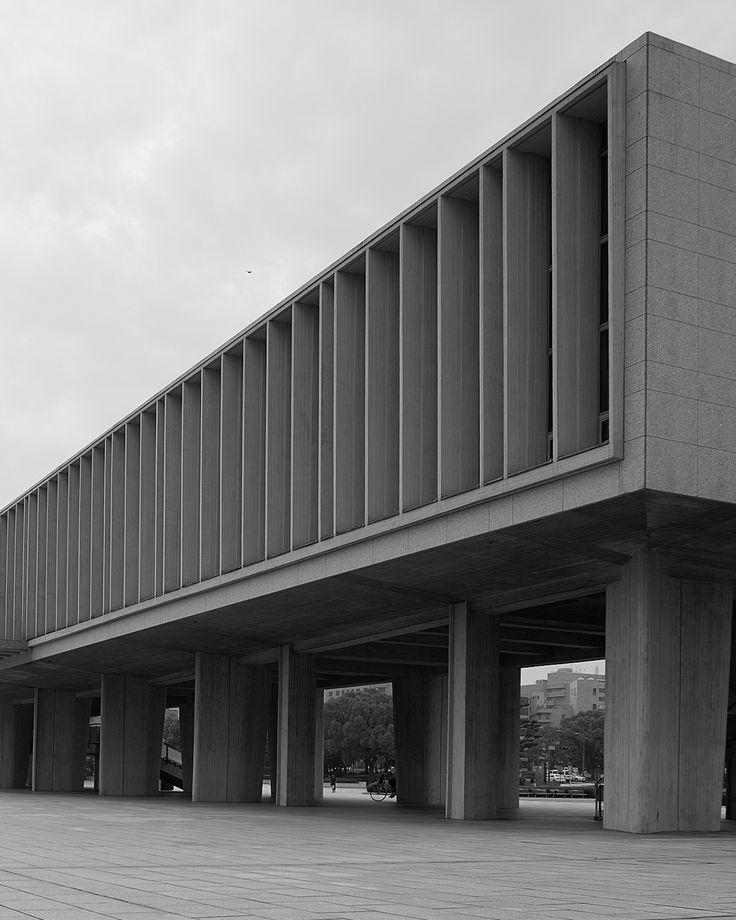 Hiroshima Peace Memorial Museum design by Kenzo Tange Hiroshima,Japan