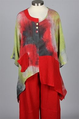 Transparente - Three Button Tunic - Batik