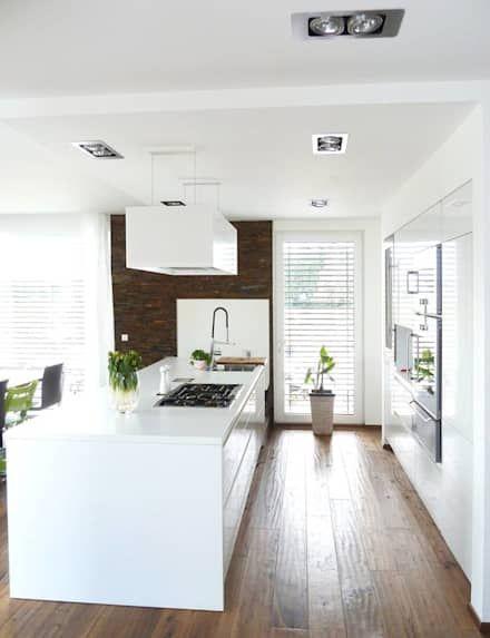 Die besten 25+ Moderne küchen mit kochinseln Ideen auf Pinterest - Led Einbauleuchten Küche
