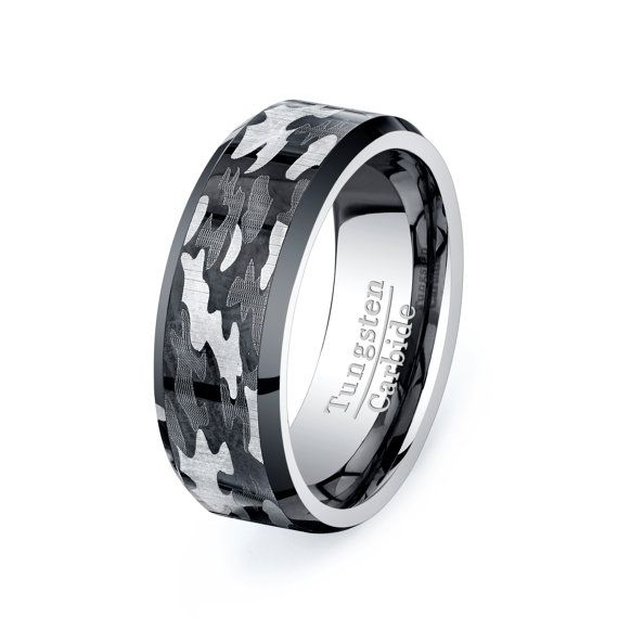 For him...this is really pretty cool. Military Camo Ring Mens Tungsten Promise Ring by TungstenOmega