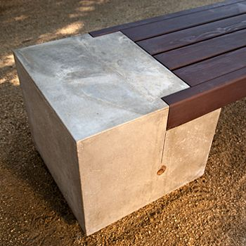 CHENG Concrete Exchange - Drawings: Rhomba Bench