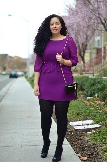 I love this dark purple!: Date Night Outfit, Color, Plus Size Fashion, Fashion Food, Fall Fashion, Fall Outfit, Dark Purple, Big Girls, Girls Style