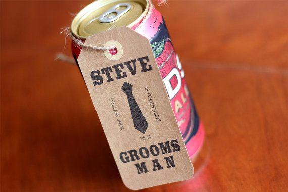Groomsman Tag Gift Tag Custom Groomsman Gift Want by hangersbyMae