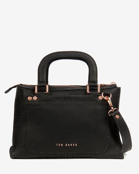 HICKORY Stab stitch bag - Black (£229 / ~$432.44 CAD) | Bags | Ted Baker UK