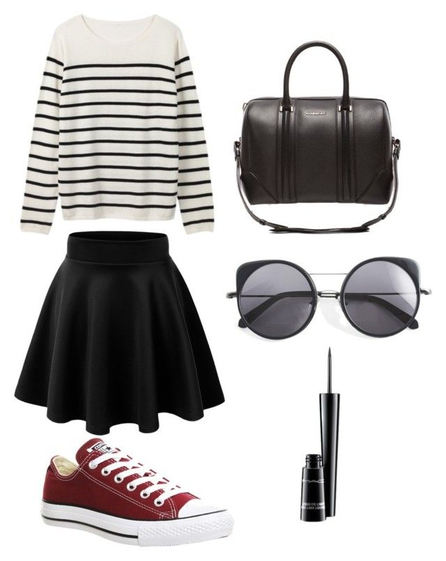 """Untitled #47"" by bestari09 on Polyvore featuring Converse, Givenchy, Wood Wood and MAC Cosmetics"