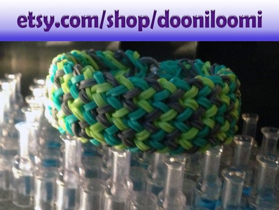how to make a thick loom bracelet