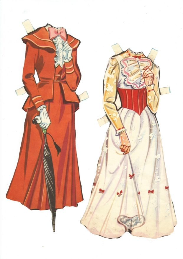 Mary Poppins Paper Doll Clothes