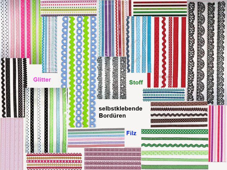 Selbstklebende Bordüren     -  Variantenauswahl          -  basteljulchen-renate