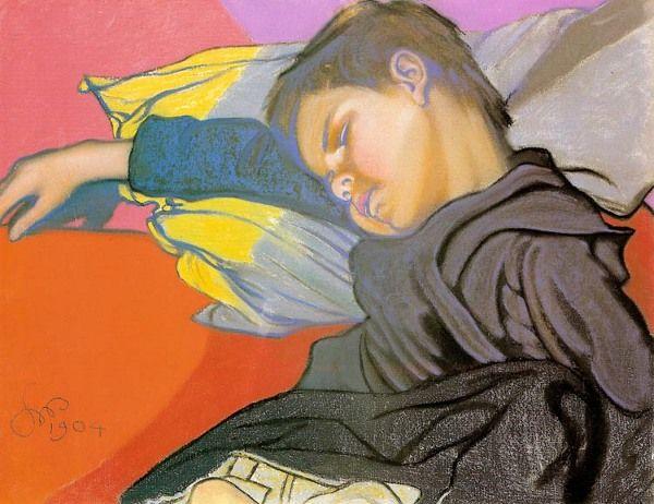 Sleeping Mietek -Stanislaw Wyspianski