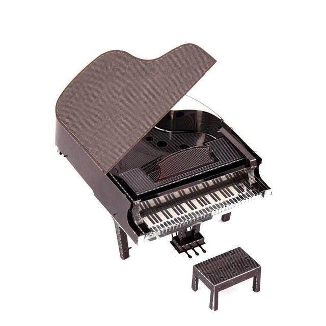 Mini Five-Piece Guitar Piano Stand Drum Set Bass Guitar Fiddlel Metal Adult Children Puzzle Education Toys