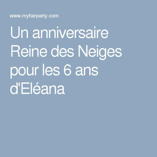Un anniversaire Reine des Neiges pour les 6 ans d'Eléana