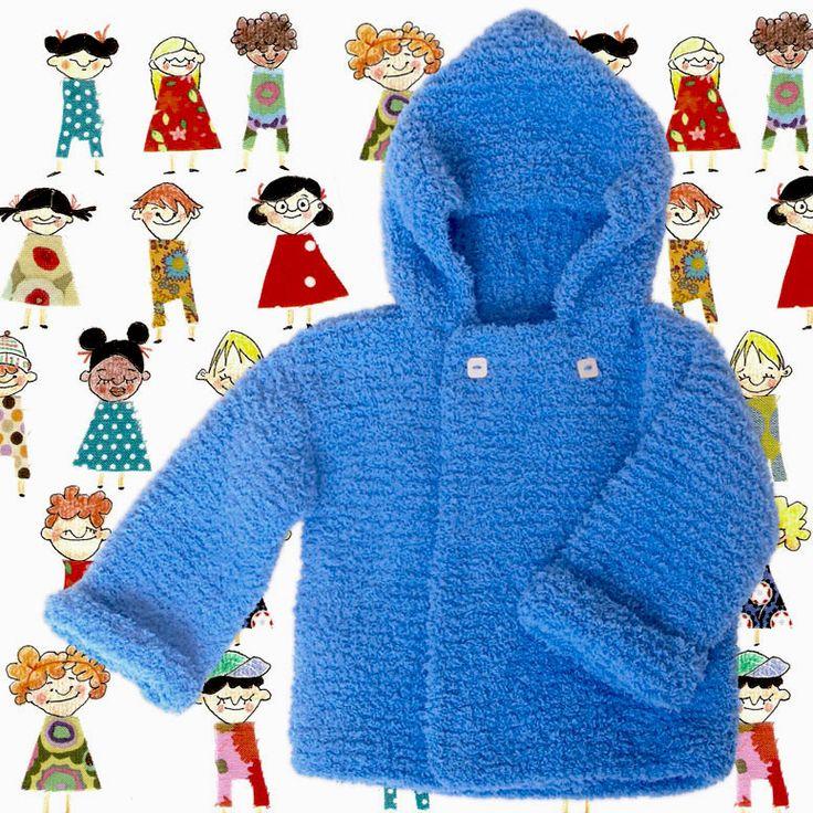 Resultado final: un abrigo de lana para niño