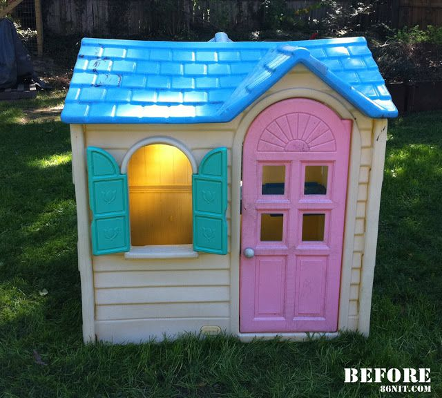 36 best images about garden on pinterest outdoor for Little tikes house