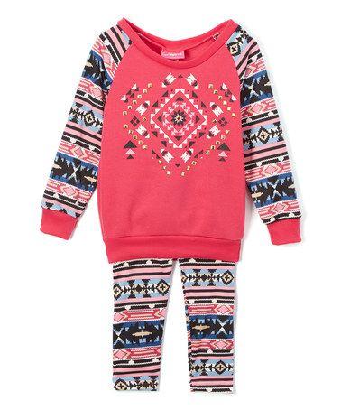Look at this #zulilyfind! Fuchsia Fair Isle Sweater & Leggings - Infant…
