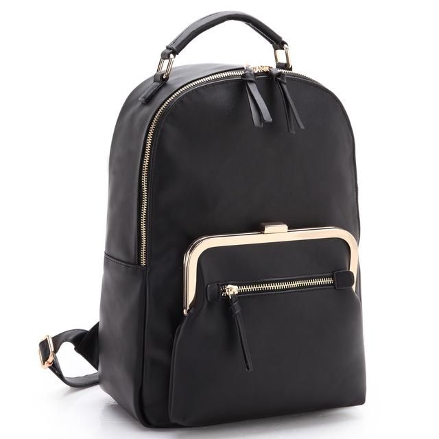 Dasein Faux Leather Backpack with Front Twist Lock pocket and mini zipped pocket http://venue26.com/products/dasein-faux-leather-backpack-with-front-twist-lock-pocket-and-mini-zipped-pocket?utm_campaign=crowdfire&utm_content=crowdfire&utm_medium=social&utm_source=pinterest #backpack #handbags #fashion #black #glam