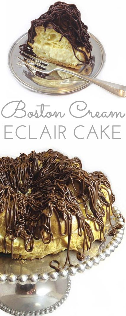 Boston Cream Eclair Cake || Make pâte à choux and fill with homemade pastry cream pudding