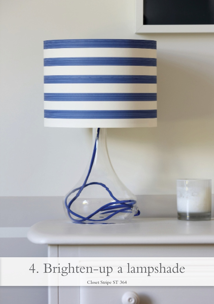 Brighten up a lampshade - pictured Closet Stripe ST 364