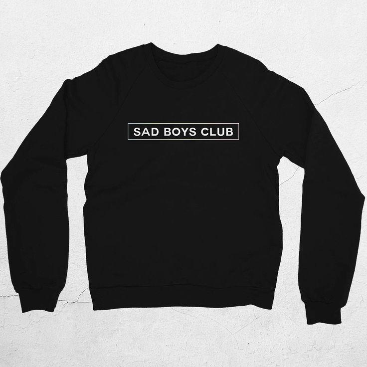 Sad Boys Club Sweater by Jigglypunk | unisex black sad boys club aesthetic fashion sweatshirt for pastel goth or pastel punk aesthetic clothing style