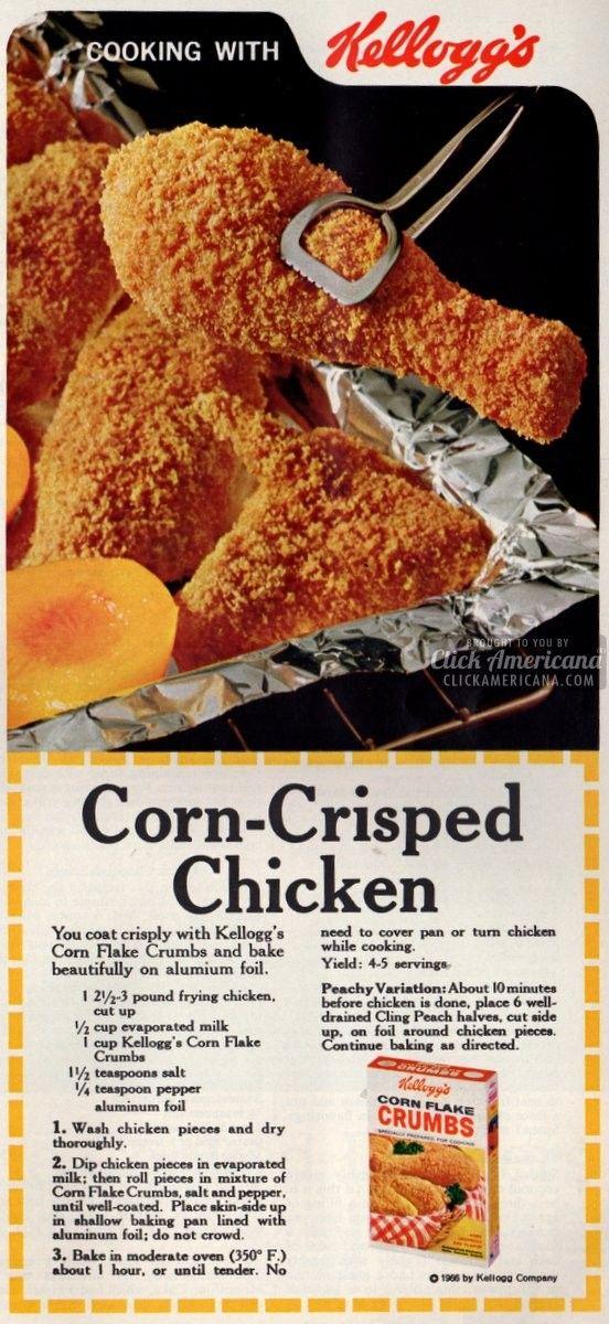 Corn-Crisped Chicken recipe (1966)