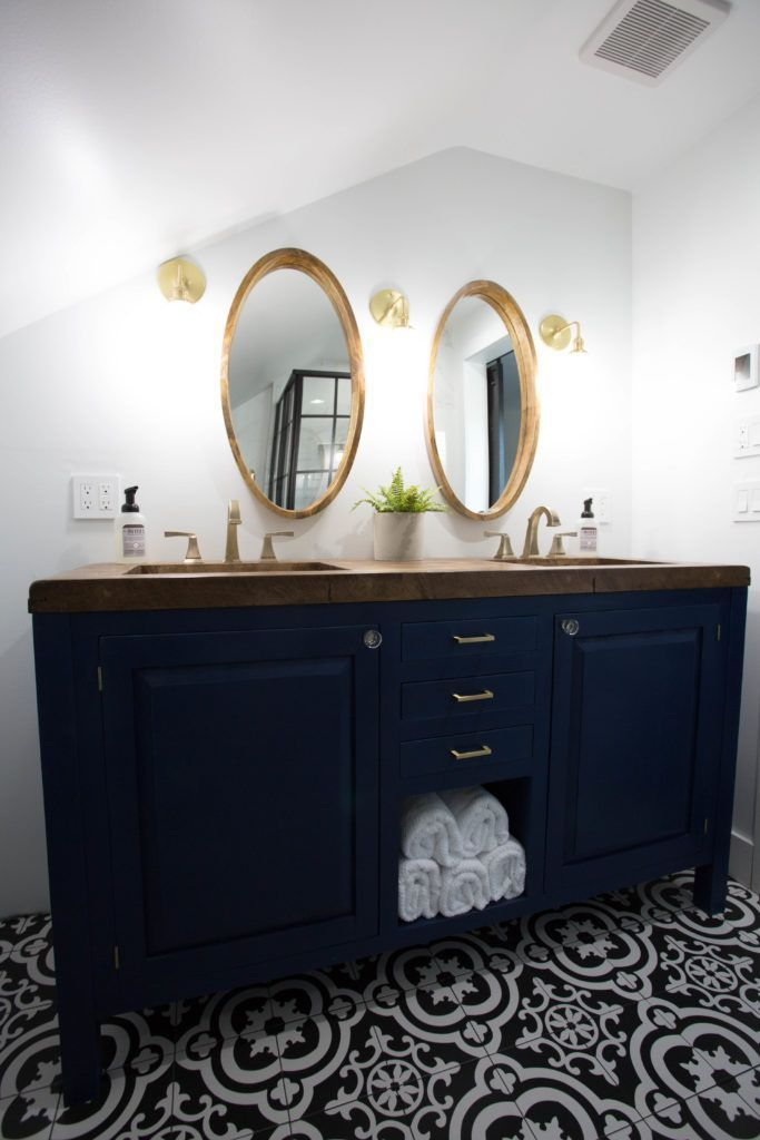 Modern Master Bathroom Reveal Blue Bathroom Vanity Modern Master Bathroom Black Bathroom