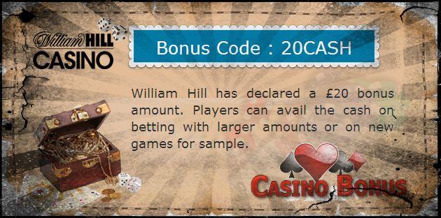 William Hill #casino Bonus code
