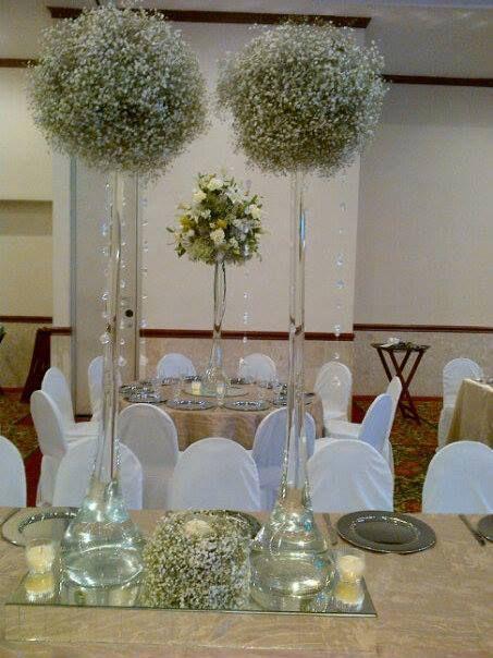 Decoracion con flores y bouquets bouquets y decoraciones for Arreglo de mesa para boda en jardin