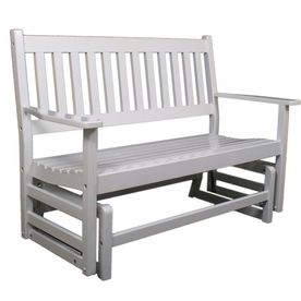 $188 at Lowes: Garden Treasures 4' White Porch Glider. Now that is reasonably priced.