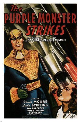 The Purple Monster strikes MOVIE POSTER D. Moore L. Stirling 1945 24X36