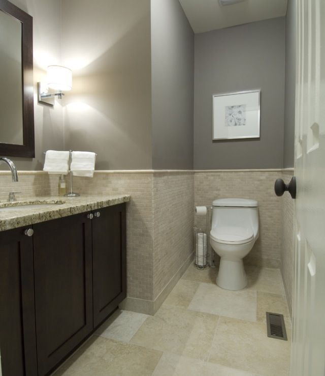 Grey And White Marble Bathroom: Paint Color- Metropolis Cc-546 Benjamin Moore, Bottocino