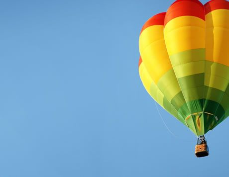 Hot air ballooning - one of the adventure activities on offer at Deerpark #Cornwall #ForestRetreat #UKgetaway #summer