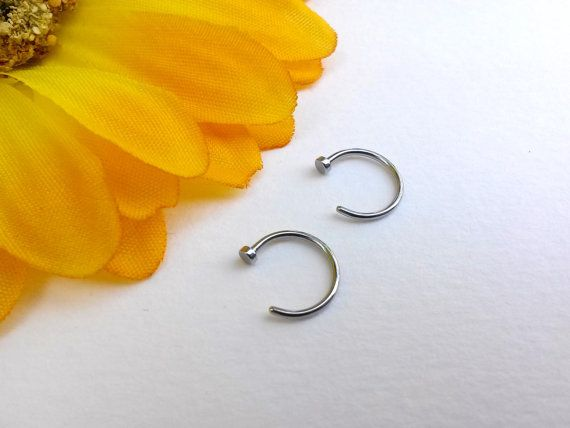 Nose Ring Nose Hoop 20g Steel Small nose ring by nomz1 on Etsy