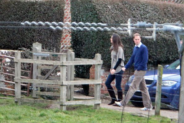 Kate Middleton in Prince William and Kate Middleton at a Pub for a Valentines weekend et the pot kiln free house