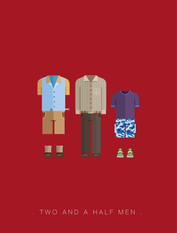 Two and a Half Man - Roupas famosas de filmes e séries por Frederico Birchal