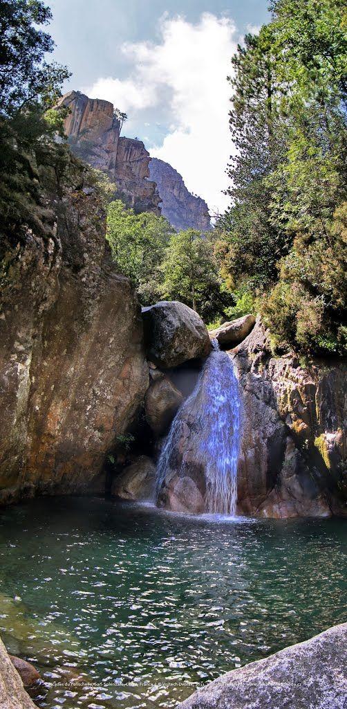 Cascades du Polischellu, Sari-Solenzara, Arggiavara, Corse, France