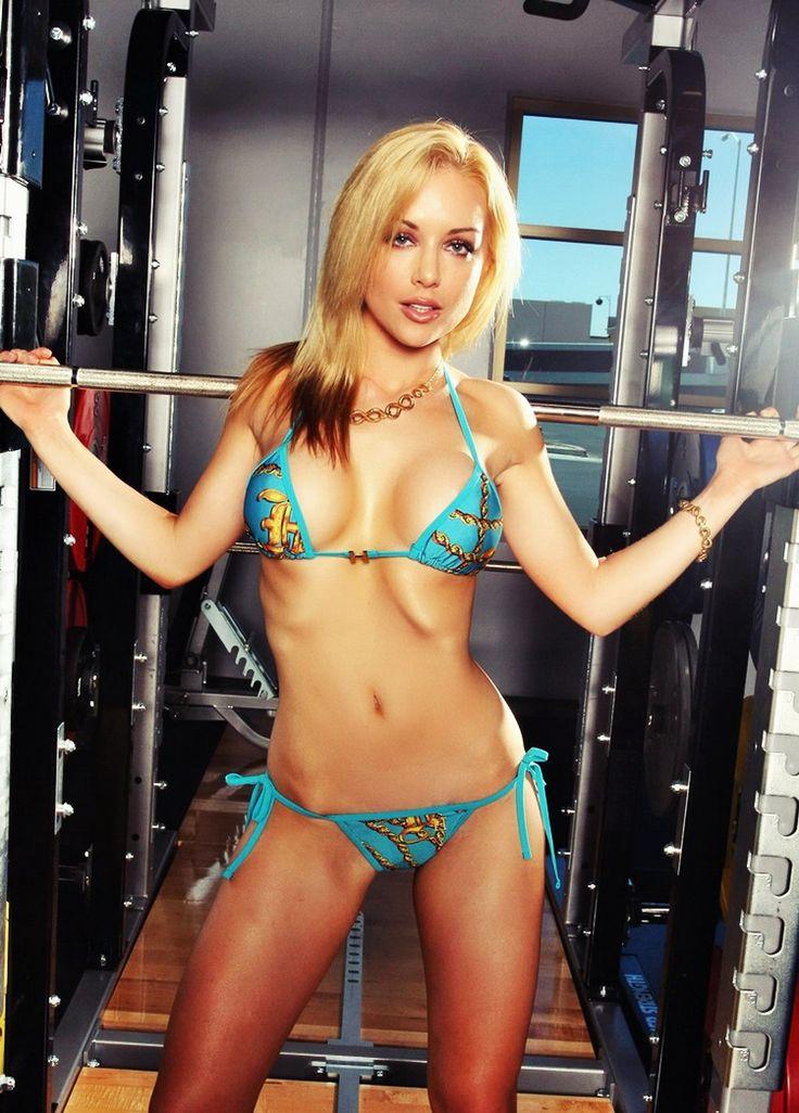 Kayden Kross Gallery Blue Bikini in the Gym
