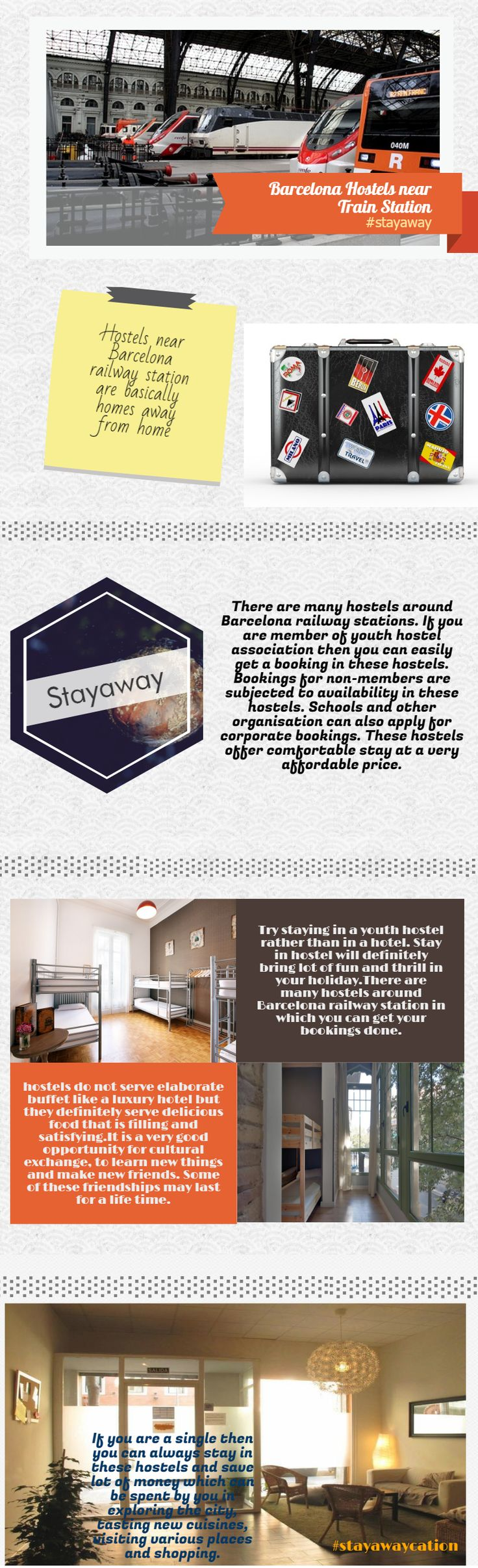 Are you looking for Hostels to stay in Barcelona! Stayaway.com offers wide choice of Barcelona hostel near Train station. Book Online to confirm your stay. #barcelonahostelneartrainstation #CheapHostelsinBarcelona #CheapHotels andhostelsnearBarcelonaRailwayStation #CheapbudgethotelsinBarcelona #HotelsnearRailwaystationBarcelona #budgethotelsnearBarcelonaRailwaystation #Stayaway