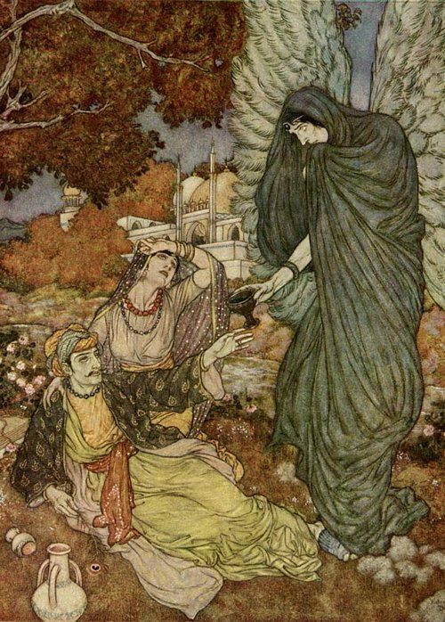 Angel of the Drink of Darkness by Edmund Dulac