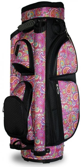 Check out Pink Paisley LGS Ladies Golf Cart Bag! Find the best golf  accessories at ced37c760f506