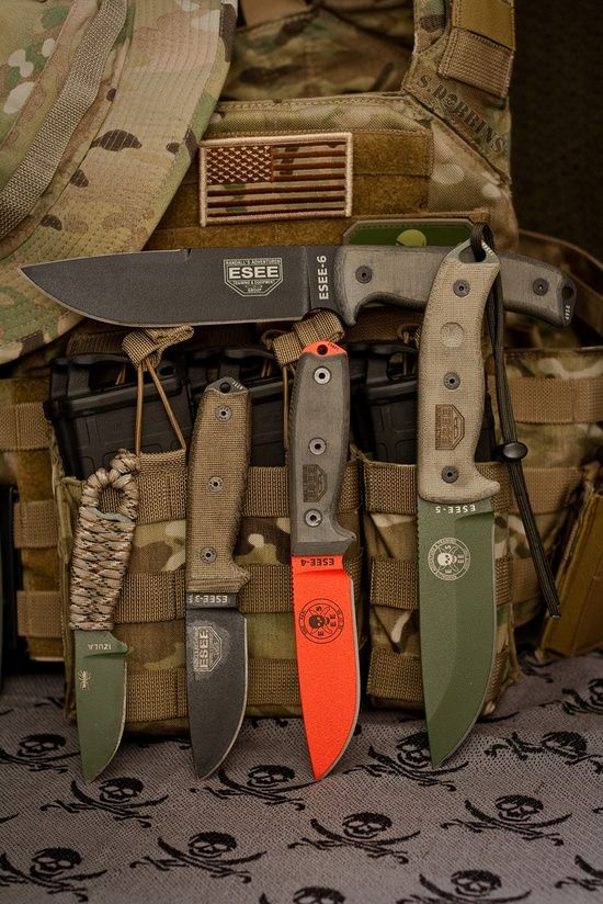A nice collection of Esee knives... sweet!