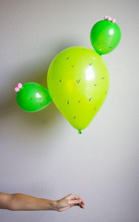 Cactus Balloons! Too cute!