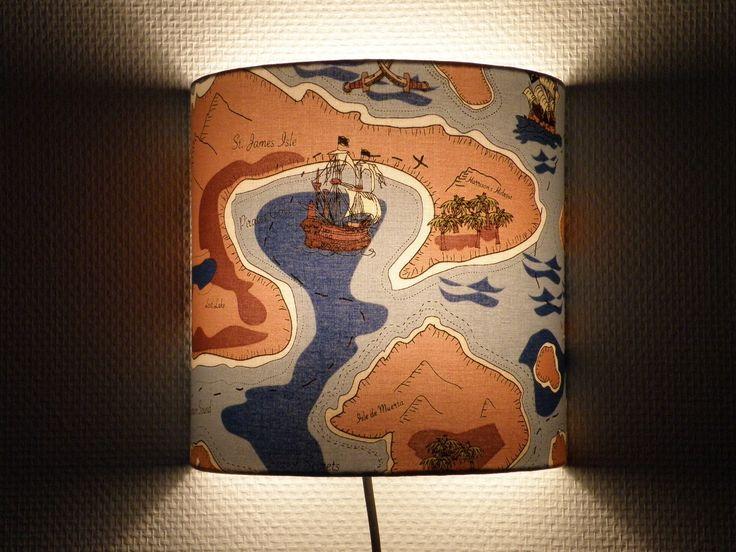 applique luminaire l'ile au trésor, les pirates pour chambre d'enfant : Luminaires par anne-claude-c