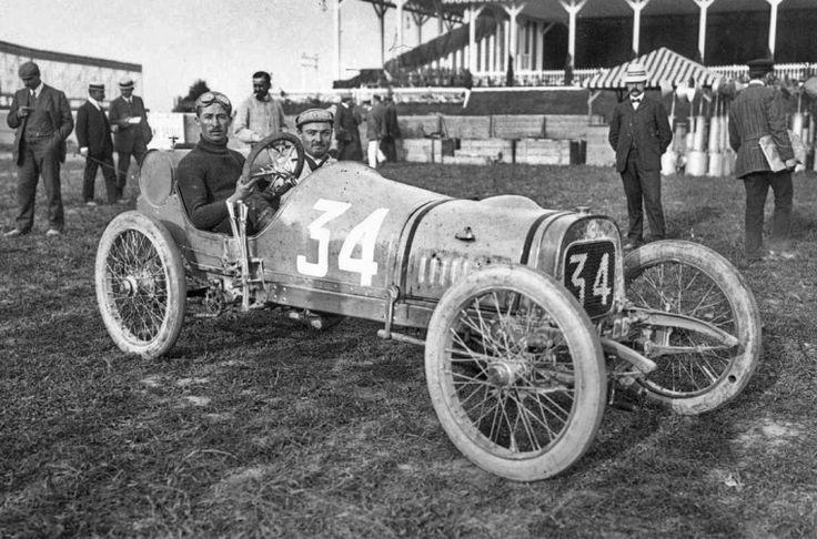 The 1908 Grand Prix de Voiturettes – Dieppe, France . Jules Goux – Lion-Peugeot